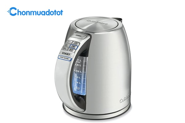 Ấm đun nước điện không dây bằng thép không gỉ Cuisinart PerfecTemp 1,7 lít CPK-17
